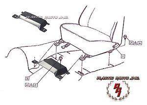 67 68 69 70 71 72 Camaro Firebird Nova Impala Front Seat Belt Inner Anchor Bolt
