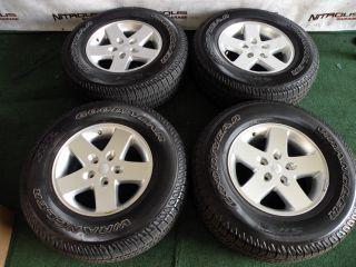 "17"" Factory Jeep Wrangler Wheels Goodyear Tires JK Unlimited Rubicon Sport"