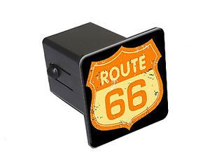 """Route 66 Vintage Road Sign 2"""" Tow Trailer Hitch Cover Plug Insert"""