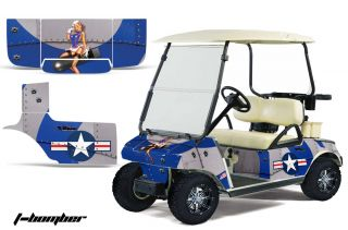 Club Car Golf Cart Parts Graphic Kit Wrap AMR Racing Decals Accessories Bomber B