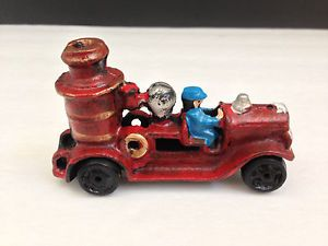 Vintage Antique Cast Iron Metal Fire Engine Steam Pumper Toy Truck Collectable