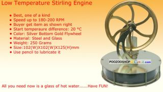 New Low Temperature Stirling Engine Educational Toy Kit Free Shipping Worldwide