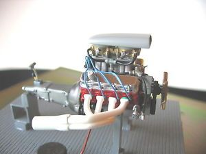 Revell AMT Pro Stock Chevy 427 Engine Street Rod Tunnel RAM Engine Built