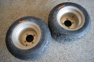 Yamaha Warrior 350 ATV Rear Wheels Tires Kenda Banshee