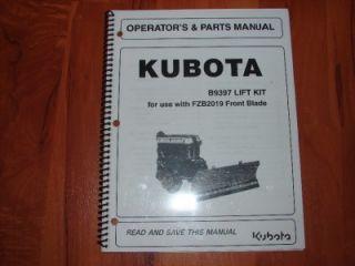 Kubota FZB2019 Front Snow Plow Blade Mount Kit Tractor B1550 B1750 B2150 B7100