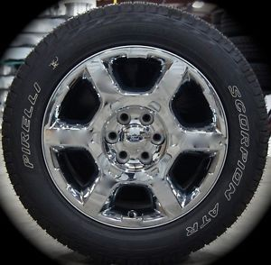 """20"""" 2013 Ford F150 F 150 Chrome Lariant Factory Wheels Rims Tires Expedition"""