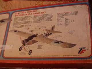 Vintage Top Flite Elder 40 Radio Control Balsa Airplane Kit Unbuilt