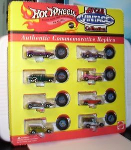 Hot Wheels 8 Car Vintage Set with Redline Tires incl Red Baron Twin Mill More