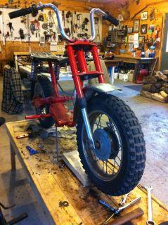 Rupp Minibike Mini Bike Frame Wheels Fork Vintage Fender Handlebars Black Widow