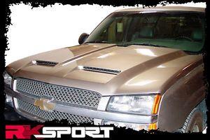 New Rksport Chevy Silverado RAM Air Hood Only Fiberglass Truck Body Kit 29012000