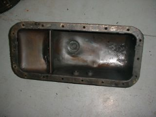 C Super C A Farmall Tractor Engine Oil Pan with Oil Check Plugs IHC Super A C SC