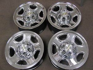 "Chevy GMC Truck Van 16""6LUG Factory Chrome Wheels Rims Centers 5129"