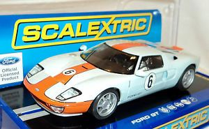 Scalextric C3324 Ford GT Heritage Gulf Livery 2012 USA Exclusive 1 32 Slot Car