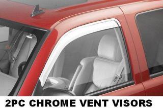 682754 AVS Chrome Rain Guards Vent Visors 1997 2003 Ford F150 Regular Super Cab