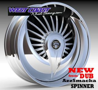 """Dub Spinner 24"""" Wheel Set Skirtz Spinners New Dub Azzsmacka Spin Floater Spinner"""