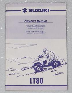 2001 Suzuki LT80 Owners Manual Original Factory Dealer LT80K1 Quad Sport 01