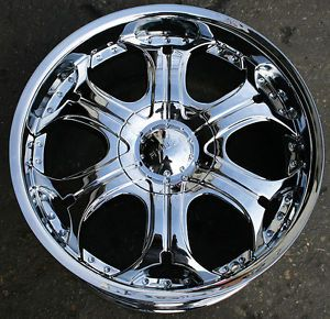 """Akuza Spur 504 22"""" Chrome Rims Wheels Ford Expedition F150 6H"""