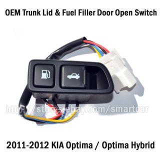 2011 2012 Kia Optima Optima Hybrid Trunk Lid Fuel Filler Door Open Switch