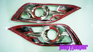 Chrome Spot Light Fog Lamp Cover Trim Honda CR V CRV MK4 IV 2012 2013 Onward L