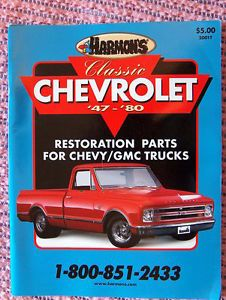 Harmon's Classic Chevrolet '47 '80 Chevy GMC Trucks Parts Catalog