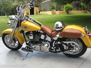 Harley Davidson Chrome Wheels Heritage Fatboy Softail 9 Spoke O E M FLST Rims
