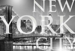 New York Bridge City Skyline Photo Wallpaper Wall Mural