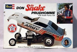 Vintage Revell Don 'The Snake' Prudhomme Dragster Funny Car Model Car Kit