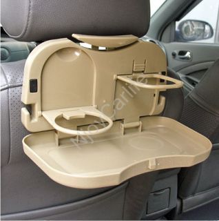 Multifunction Car Auto Back Seat Bottle Food Drink Cup Folding Tray Stand Holder