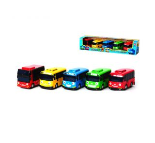 The Little Bus Tayo His Friends Wind Up Toy Car Korean Animation 5 Cars C Set