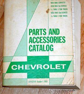 Vintage 1938 1966 Chevrolet Parts Accessories Catalog Passenger Cars Trucks