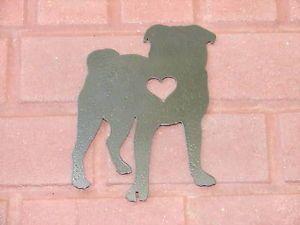 Pug Pet Dog Memorial Garden Yard Lawn Ornament K9 Decor