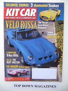 Kit Car Magazine July 2003 3 Wheelers Trike Kits