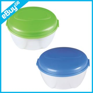 Salad to Go Cool Gear Lunchbox Plastic Food Container Freezable Gel Lid Box