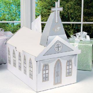 Church Shaped Gift Holder Card Box Wedding Baptism