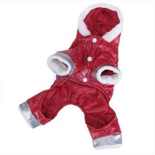 Pet Dog Puppy Hoodie Hooded Jumpsuit Winter Warm Coat Jacket Clothes Costume S