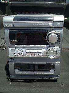 Aiwa CX NA303U Stereo System 3CD Changer Dual Cassettes with Speakers