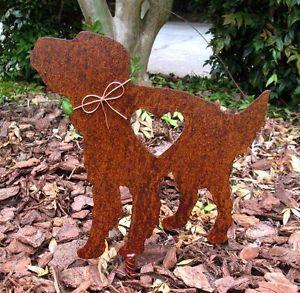 Irish Setter Dog Metal Garden Stake Yard Garden Art Pet Memorial