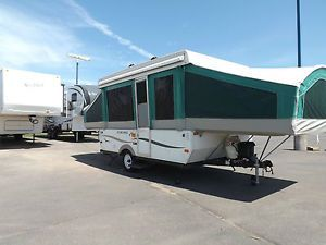 Excellent Up Popup Camper Travel Tent Trailer Camping RV Folding Sleeps 8