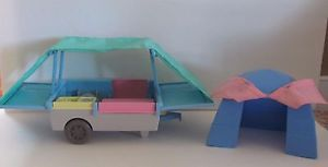 Fisher Price Loving Family Dollhouse Camping Lot Car Pop Up Pop Up camper Tent