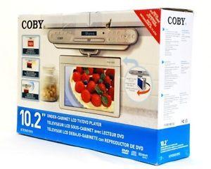 "Coby KTFDVD1093SVR 10 2"" Under The Cabinet DVD CD Player Digital TV Radio"