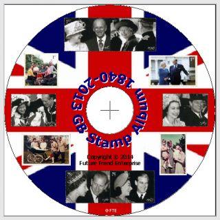 GB Stamp Album 1840 2010 CD Free Postage