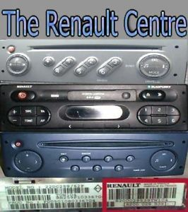 Renault Kangoo Clio Twingo Megane CD Player Code Pin