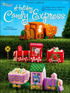 Holiday Candy Express Plastic Canvas Pattern Book Train