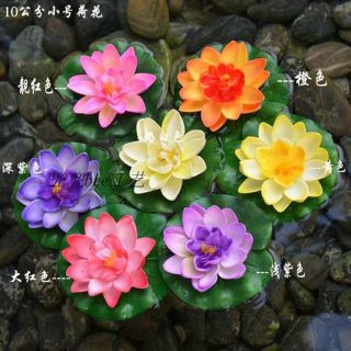 1pc Lotus Flowers Water Lily Fish Ponds Pond Placed Choose 1 Fake Artificial