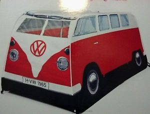 VW camper Van Pop Up Children Play Tent 1965 VW Camping Toy Red 21 23 Window Bus