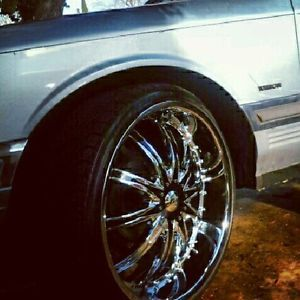Details about 24 inch rims tired for sale