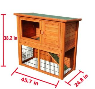 New Little Pet Cage Wooden Rabbit House Wood Hen Chicken Coop Hutch Box
