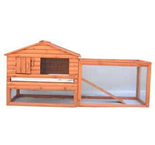 New Removable Wooden Rabbit Hutch Hen House Chicken Coop Wood Pet Cage