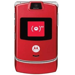 Motorola V3m RAZR US Cellular Red Cell Phone Fair Condition Camera Flip Phone