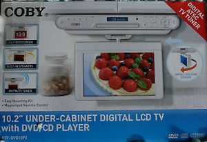 coby 15 under cabinet tv dvd combo coby under cabinet tv dvd player